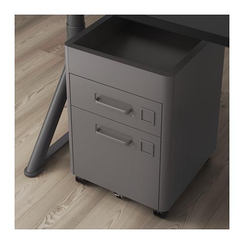 IDÅSEN - 抽屜組合連智能鎖, 深灰色 | IKEA 香港及澳門 - PE709885_S4