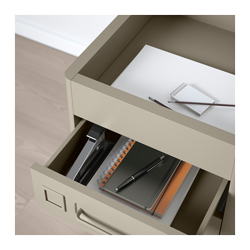 IDÅSEN - drawer unit on castors, beige | IKEA Hong Kong and Macau - PE709883_S4