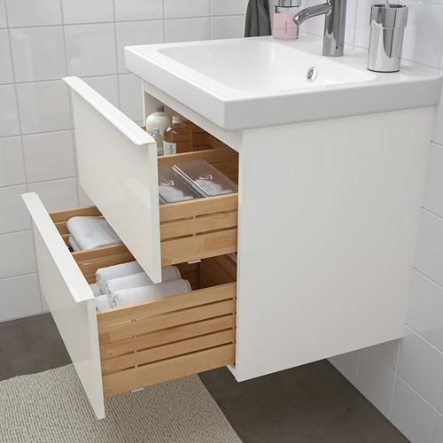 ODENSVIK/GODMORGON - 浴室貯物組合 4件裝, high-gloss white/Dalskär tap   IKEA 香港及澳門 - PE748980_S4