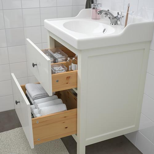 HEMNES/RÄTTVIKEN - bathroom furniture, set of 4, white/Runskär tap | IKEA Hong Kong and Macau - PE748987_S4