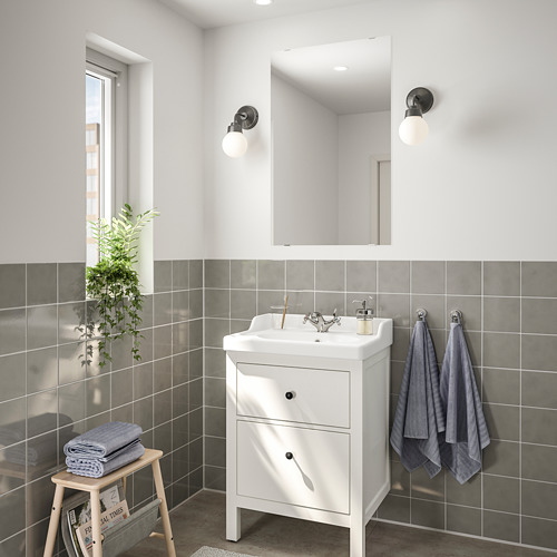 HEMNES/RÄTTVIKEN bathroom furniture, set of 4