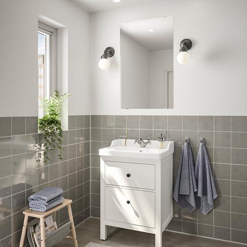 HEMNES/RÄTTVIKEN - bathroom furniture, set of 4, white/Runskär tap | IKEA Hong Kong and Macau - PE748986_S4