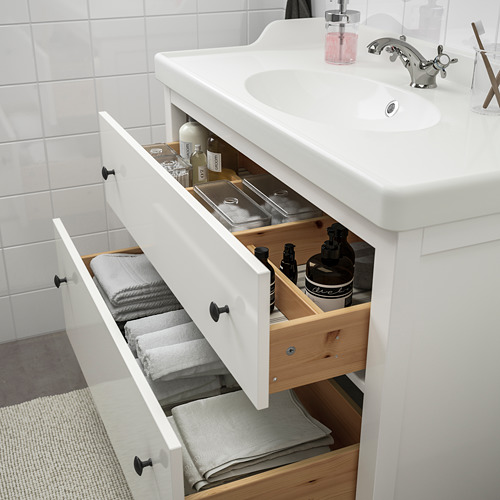 RÄTTVIKEN/HEMNES - bathroom furniture, set of 5, white/Runskär tap | IKEA Hong Kong and Macau - PE748994_S4