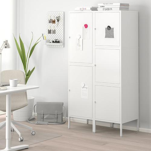 HÄLLAN - storage combination with doors, white | IKEA Hong Kong and Macau - PE664019_S4