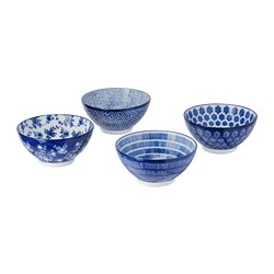 ENTUSIASM - bowl, patterned/blue | IKEA Hong Kong and Macau - PE709594_S3