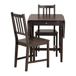 INGATORP/STEFAN - table and 2 chairs, black-brown/brown-black | IKEA Hong Kong and Macau - PE315319_S3
