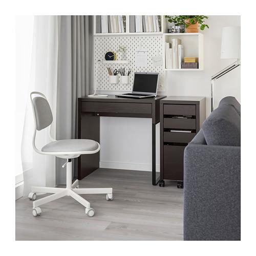 MICKE - desk, width 73 x depth 50cm, black-brown | IKEA Hong Kong and Macau - PE709630_S4