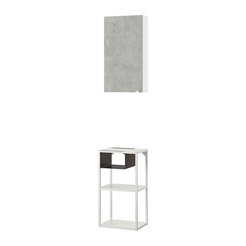 ENHET - 上牆式貯物架組合, white/concrete effect   IKEA 香港及澳門 - PE773646_S4