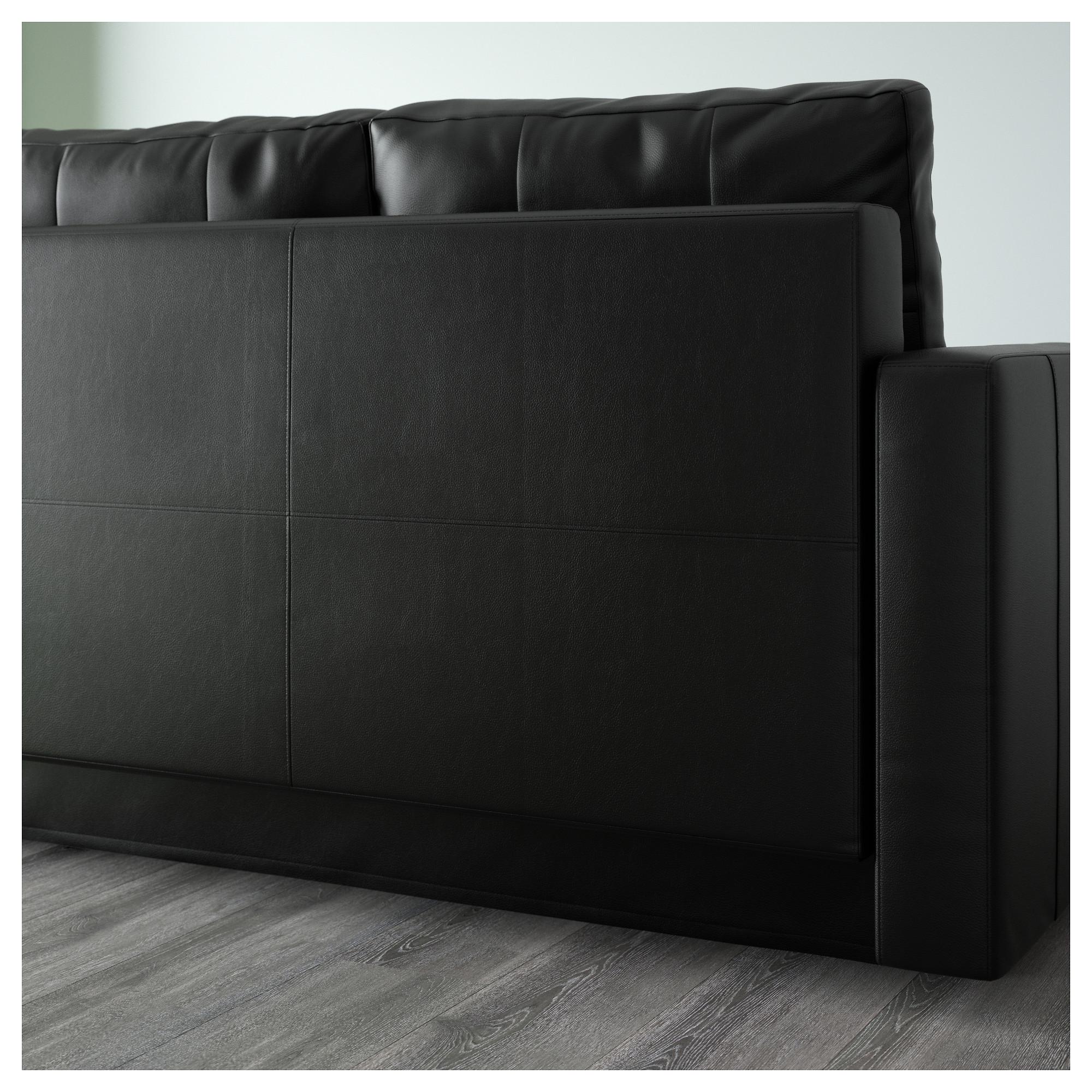 Friheten Corner Sofa Bed With Storage Bomstad Black
