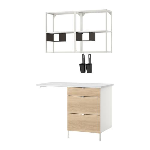 ENHET - 上牆式貯物架組合, white/oak effect   IKEA 香港及澳門 - PE773555_S4