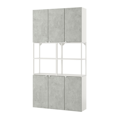 ENHET - 上牆式貯物架組合, white/concrete effect   IKEA 香港及澳門 - PE773583_S4