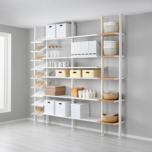 ELVARLI - 4 sections, white/bamboo | IKEA Hong Kong and Macau - PE622975_S4