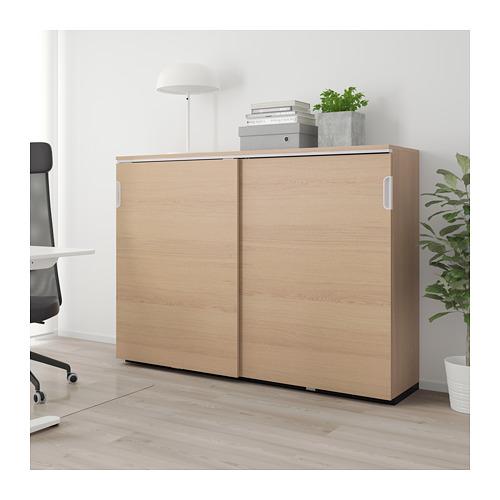 GALANT - 趟門貯物櫃, 染白橡木飾面   IKEA 香港及澳門 - PE709824_S4