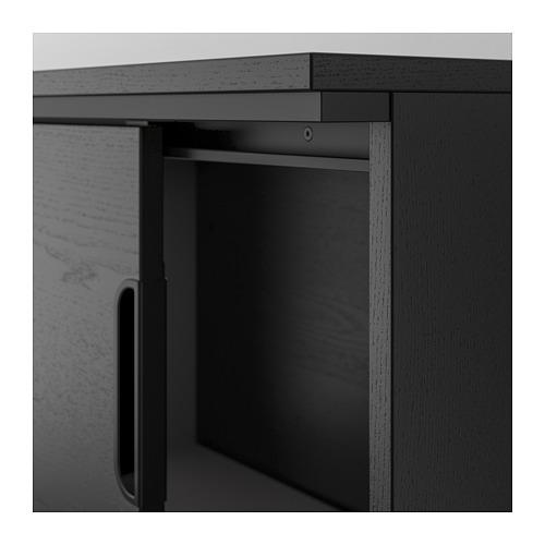 GALANT - 貯物組合連趟門, 染黑梣木飾面 | IKEA 香港及澳門 - PE709827_S4