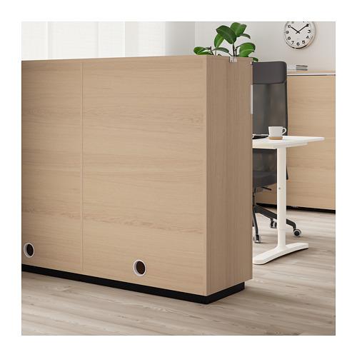 GALANT - 趟門貯物櫃, 染白橡木飾面   IKEA 香港及澳門 - PE709834_S4