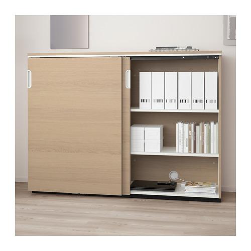 GALANT - 趟門貯物櫃, 染白橡木飾面   IKEA 香港及澳門 - PE709821_S4