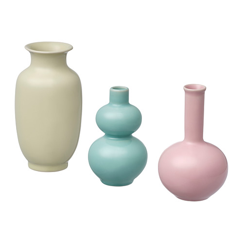ÅTERTÅG 花瓶,3件套裝