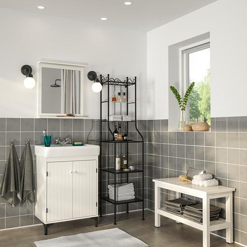 SILVERÅN/HAMNVIKEN bathroom furniture, set of 6