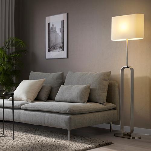 UPPVIND - floor lamp, nickel-plated/white   IKEA Hong Kong and Macau - PE805082_S4
