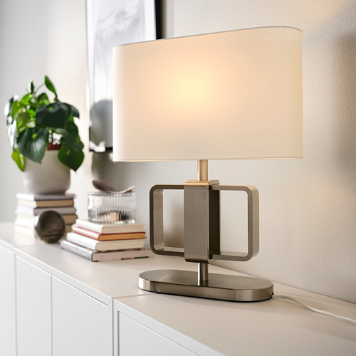 UPPVIND - table lamp, nickel-plated/white | IKEA Hong Kong and Macau - PE805081_S4