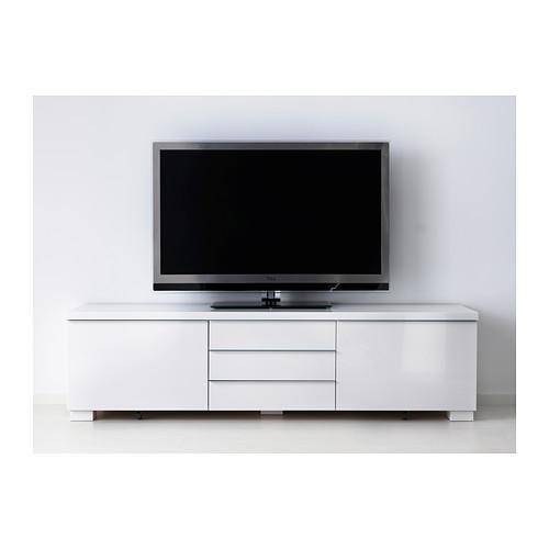 BESTÅ BURS - TV bench, high-gloss white | IKEA Hong Kong and Macau - PE402056_S4