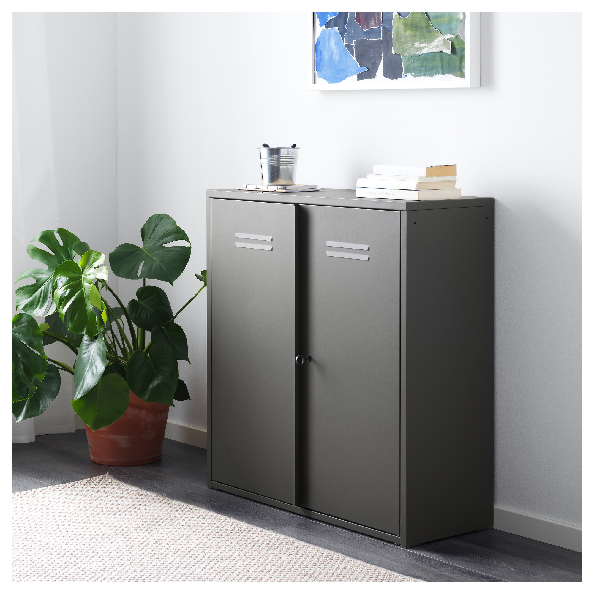 Ivar Cabinet With Doors Grey Ikea Hong Kong