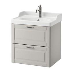 GODMORGON/RÄTTVIKEN - wash-stand with 2 drawers, Kasjön light grey/Hamnskär tap | IKEA Hong Kong and Macau - PE661028_S3