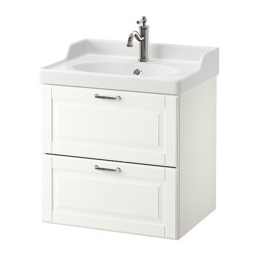 GODMORGON/RÄTTVIKEN - 雙抽屜洗手盆櫃, Kasjön white/Hamnskär tap | IKEA 香港及澳門 - PE661031_S4