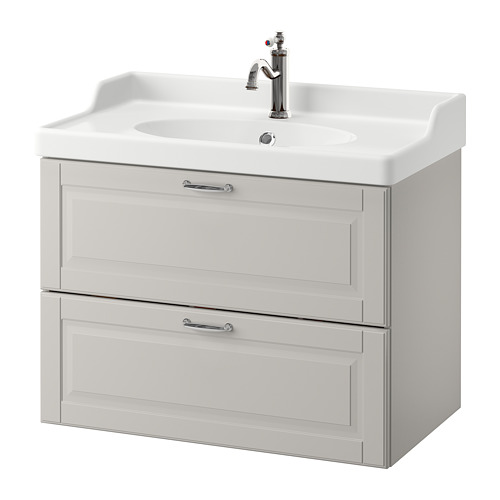 GODMORGON/RÄTTVIKEN - wash-stand with 2 drawers, Kasjön light grey/Hamnskär tap | IKEA Hong Kong and Macau - PE661055_S4