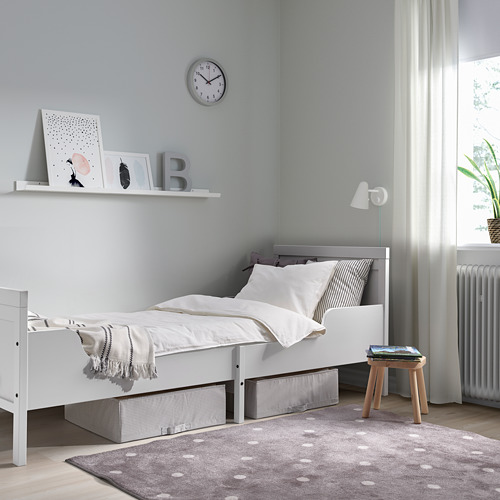 SUNDVIK - ext bed frame with slatted bed base, grey | IKEA Hong Kong and Macau - PE806115_S4