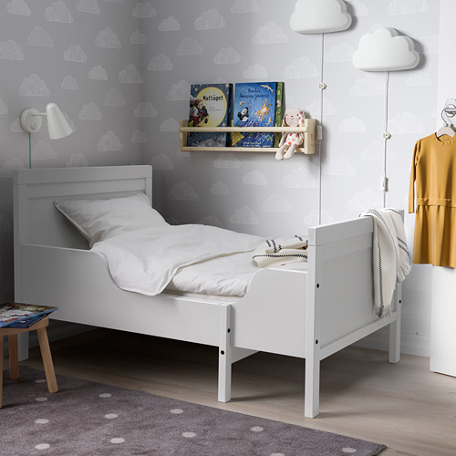 SUNDVIK - ext bed frame with slatted bed base, grey | IKEA Hong Kong and Macau - PE806114_S4