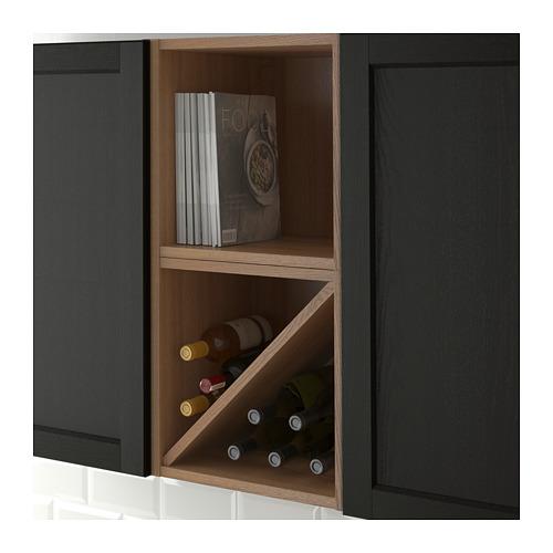 VADHOLMA - wine shelf, brown/stained ash | IKEA Hong Kong and Macau - PE661111_S4