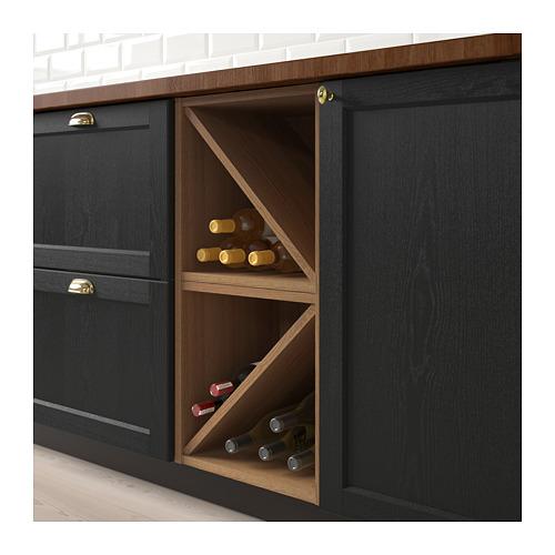 VADHOLMA - wine shelf, brown/stained ash | IKEA Hong Kong and Macau - PE661110_S4