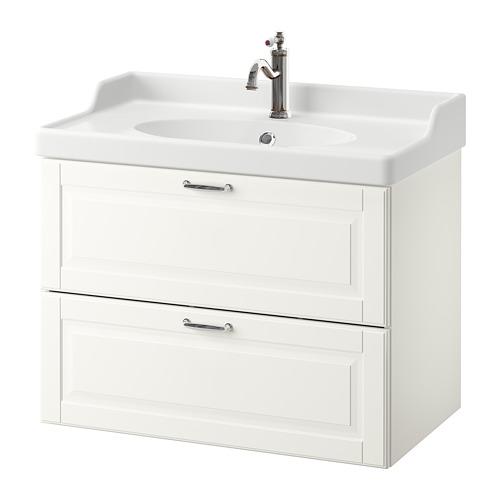 GODMORGON/RÄTTVIKEN - 雙抽屜洗手盆櫃, Kasjön white/Hamnskär tap | IKEA 香港及澳門 - PE661120_S4