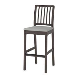 EKEDALEN - 高腳凳連靠背, 深褐色/Orrsta 淺灰色 | IKEA 香港及澳門 - PE710031_S3