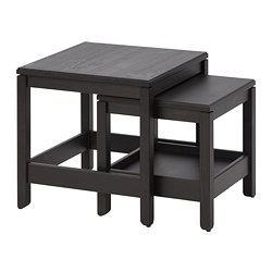 HAVSTA - nest of tables, set of 2, dark brown | IKEA Hong Kong and Macau - PE710081_S3