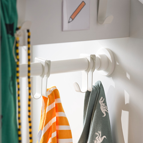 SMÅSTAD - wardrobe with pull-out unit, white with frame/with clothing rod | IKEA Hong Kong and Macau - PH175379_S4