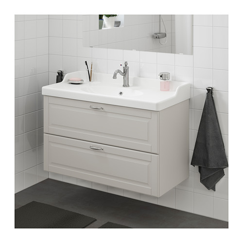GODMORGON/RÄTTVIKEN wash-stand with 2 drawers