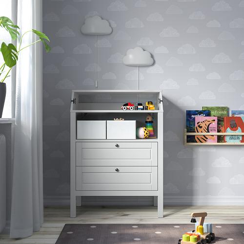 SUNDVIK - 更換尿布檯 / 抽屜櫃, 灰色   IKEA 香港及澳門 - PE805282_S4