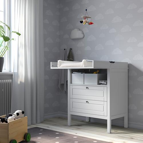 SUNDVIK - 更換尿布檯 / 抽屜櫃, 灰色   IKEA 香港及澳門 - PE805281_S4