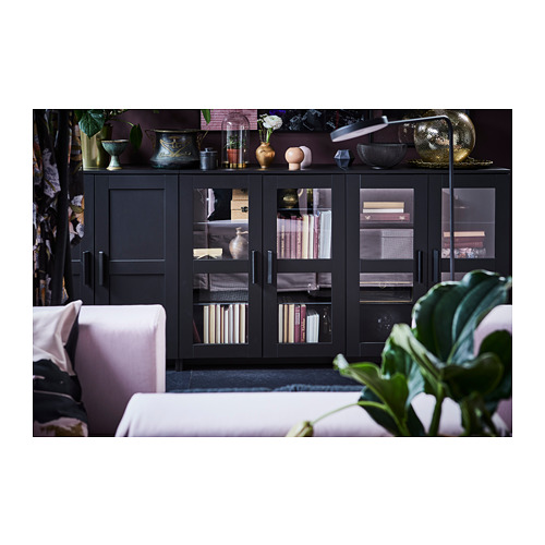 BRIMNES - cabinet with doors, black | IKEA Hong Kong and Macau - PH150663_S4