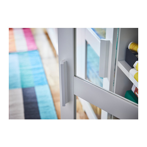 BRIMNES - cabinet with doors, glass/white | IKEA Hong Kong and Macau - PH150666_S4