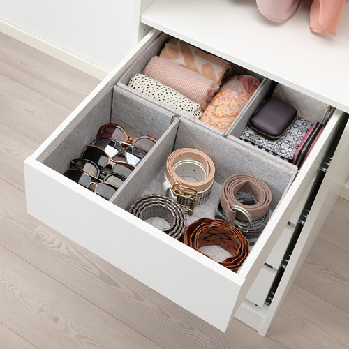 KOMPLEMENT - box, set of 4, light grey | IKEA Hong Kong and Macau - PE693370_S4