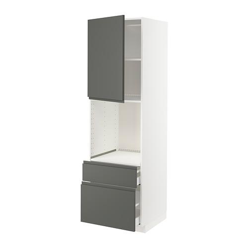 METOD/MAXIMERA - high cabinet f oven+door/2 drawers, white/Voxtorp dark grey | IKEA Hong Kong and Macau - PE749599_S4