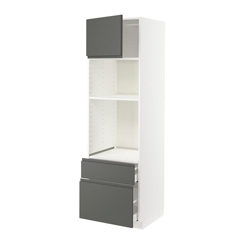 METOD/MAXIMERA - high cab f oven/micro w dr/2 drwrs, white/Voxtorp dark grey   IKEA Hong Kong and Macau - PE749600_S4