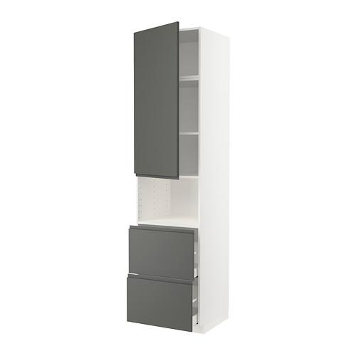 METOD/MAXIMERA - hi cab f micro w door/2 drawers, white/Voxtorp dark grey | IKEA Hong Kong and Macau - PE749606_S4