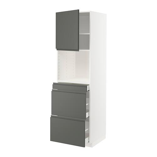 METOD/MAXIMERA - hi cab f micro combi w door/3 drwrs, white/Voxtorp dark grey | IKEA Hong Kong and Macau - PE749607_S4