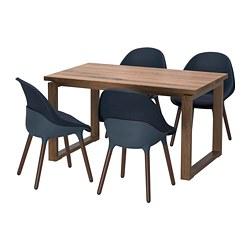 BALTSAR/MÖRBYLÅNGA - 一檯四椅, 橡木飾面 染褐色/藍黑色 | IKEA 香港及澳門 - PE749653_S3