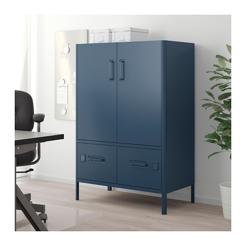 IDÅSEN - cabinet with doors and drawers, blue | IKEA Hong Kong and Macau - PE710219_S4
