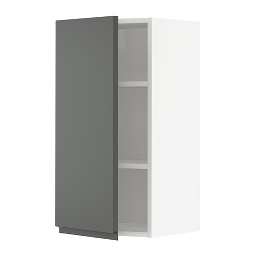 METOD - wall cabinet with shelves, white/Voxtorp dark grey | IKEA Hong Kong and Macau - PE749717_S4